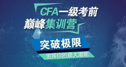 CFA一级巅峰集训营(含2016年12月绝密押题)